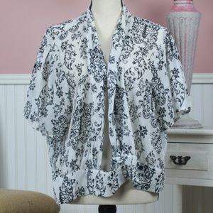Torrid Sheer Brocade Outer Shirt Size 3X
